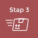 Stap 3 logo bestellen